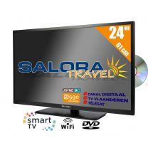 """Salora 24"""" LED TV 9109CTS2 DVD WiFi CI S2/C/T2 12/230V SMART"""